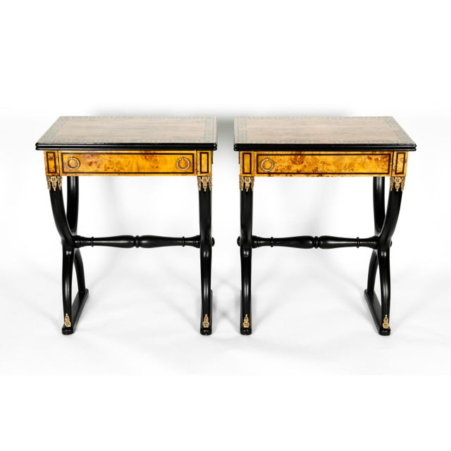 Contemporary Early 19th Century Ebony Side or End Tables - a Pair For Sale - Image 3 of 13