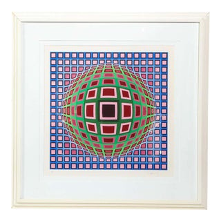 Victor Vasarely Untitled Circa 1970 For Sale