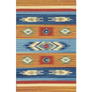 Anatolian Hand-Woven Cotton Rug- 5' X 8' For Sale