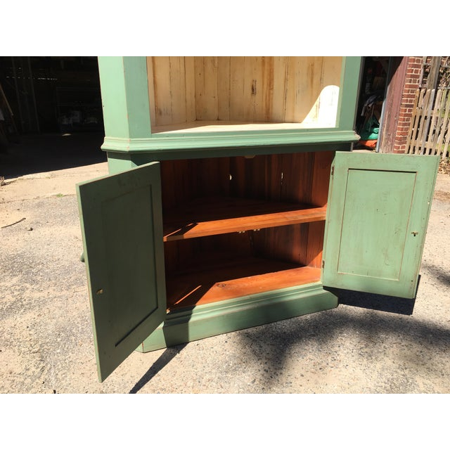 Green Reclaimed Farmhouse Hutch - Image 4 of 7