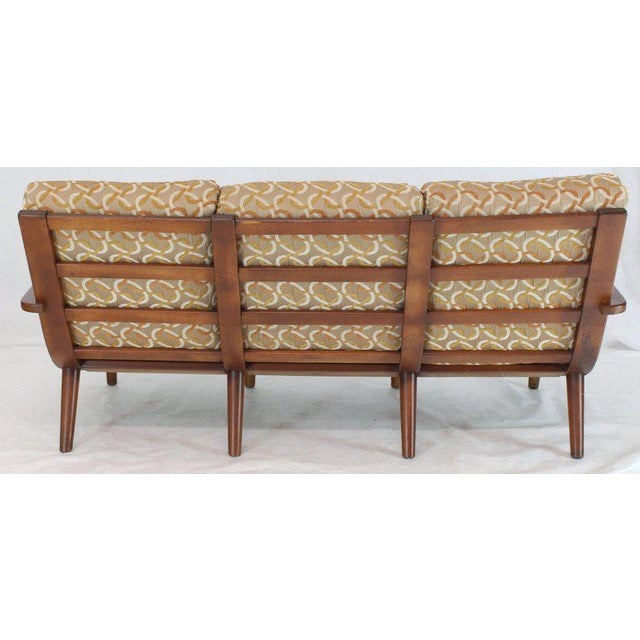 Russel Wright Conant Ball Russel Right Solid Bent Maple Sofa For Sale - Image 4 of 13