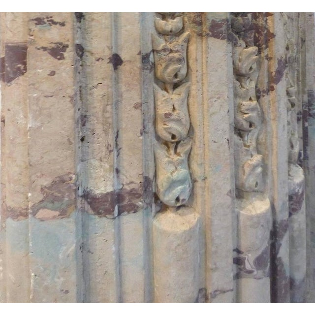 Ceramic Turn of the Century Italian Terracotta Faux-Marble Fireplace For Sale - Image 7 of 11