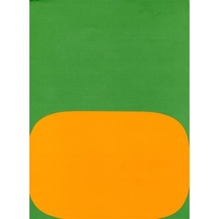 """Orange and Green"", Original Lithograph by Ellsworth Kelly From ""Derriere Le Miroir No.149 - Kelly - 1964"" For Sale"