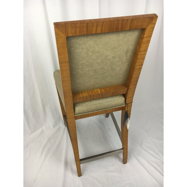 Lemonwood Green Aubusson Bar Stool For Sale - Image 4 of 9