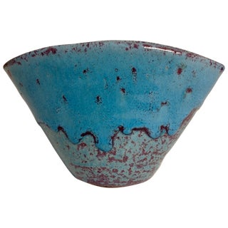 Mid-Century North State Pottery Turquoise Vase For Sale