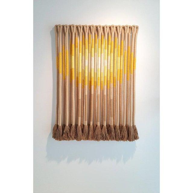 'Sun Spot' by Fiber Artist Jane Knight For Sale In Dallas - Image 6 of 7