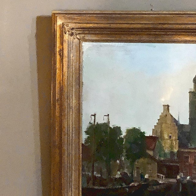 Mid-Century Framed Original Painting on Canvas by Joseph Tilleux (1896-1978) For Sale - Image 4 of 10