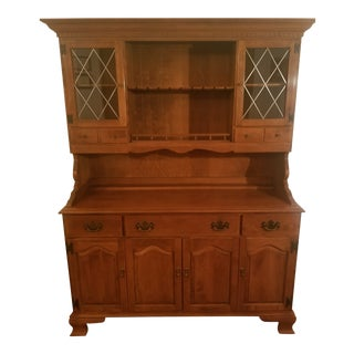 Ethan Allen Early American Solid Maple Hutch For Sale