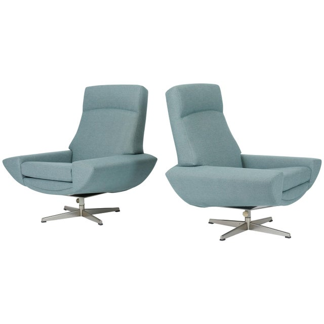 Metal Capri Swivel Chairs by Johannes Andersen for Trensum, 1958 For Sale - Image 7 of 7