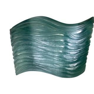 Daum Pate De Verre Art Glass Vase, Signed For Sale