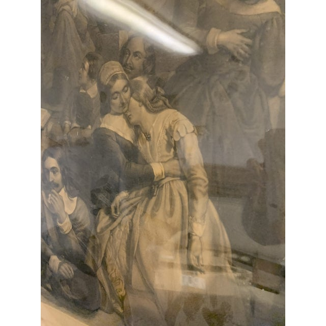 Antique French Lithograph in Gold Leaf Frame For Sale In Denver - Image 6 of 13