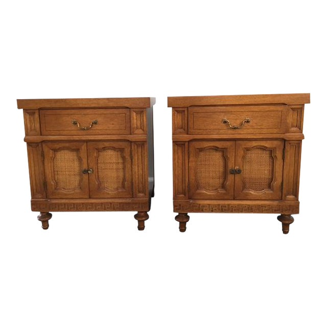 Daniel Jones Vintage Bedroom Nightstands - A Pair - Image 1 of 5