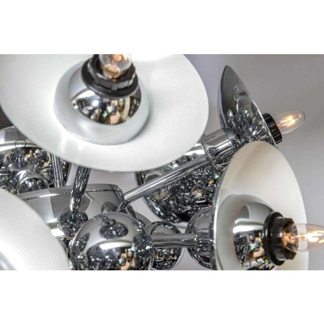 Eighteen-Light Chrome Sputnik Chandelier For Sale In Miami - Image 6 of 9