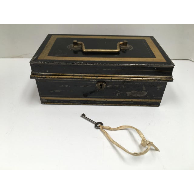 Early 1900s Antique English Metal Cash Box - Image 11 of 11