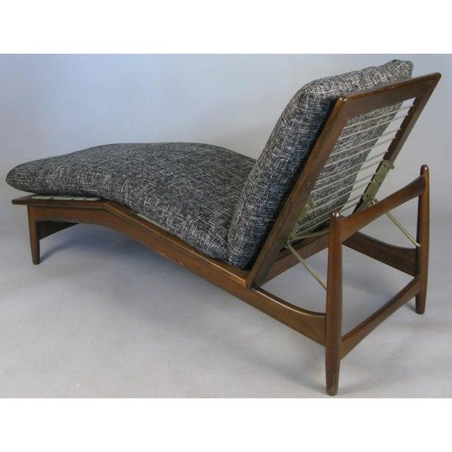 Ib Kofod-Larsen Danish Adjustable Chaise Lounge by Ib Kofod-Larsen, Circa 1960 For Sale - Image 4 of 10