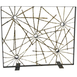 Studio Brutalist Starburst Fireplace Screen by John De La Rosa For Sale