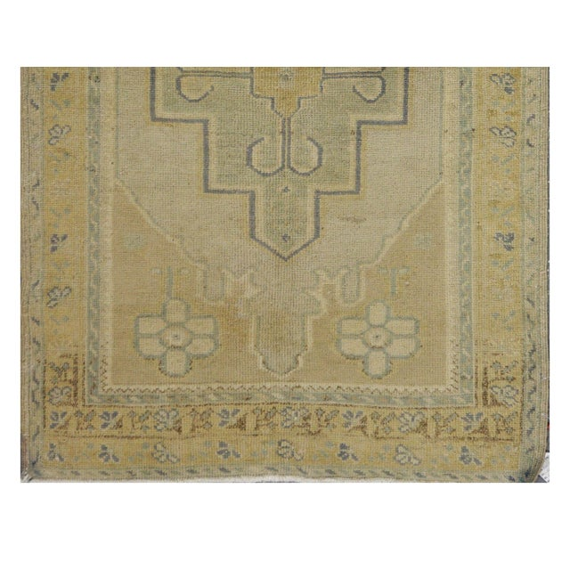 Islamic Vintage Turkish Oushak Rug - 3'2'' x 5'2'' For Sale - Image 3 of 4