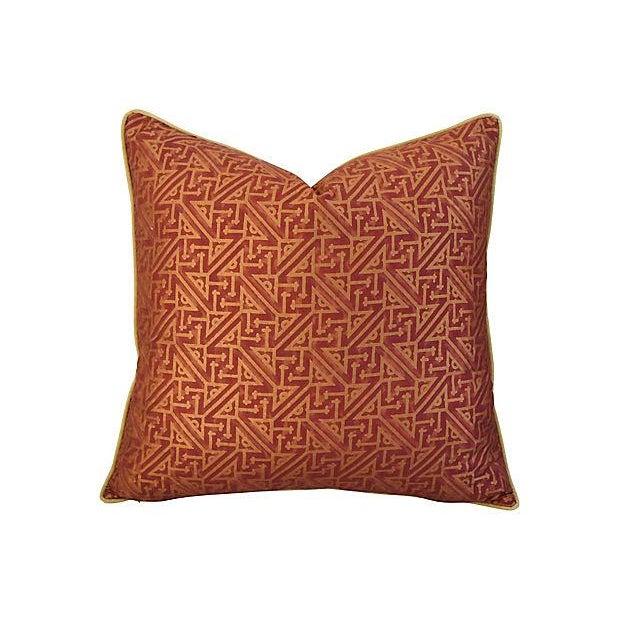 Custom Italian Mariano Fortuny Simboli Feather/Down Pillows - Pair - Image 4 of 10