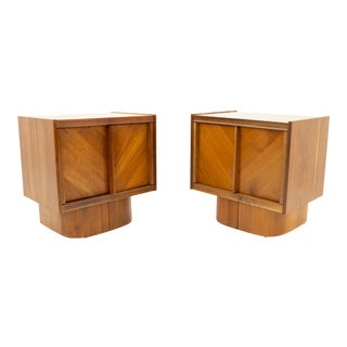 Canadian Brutalist Mid Century Nightstands - Pair For Sale