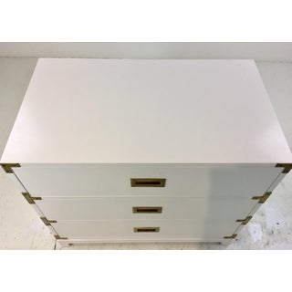 Ave Home Modern White Carlyle Campaign Chest of Drawers Preview