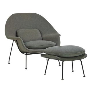 Womb Chair and Ottoman by Eeron Saarinen for Knoll For Sale