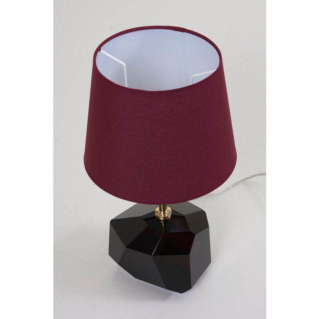 Pair of Diamond Shape Murano Glass Table Lamps For Sale - Image 6 of 11