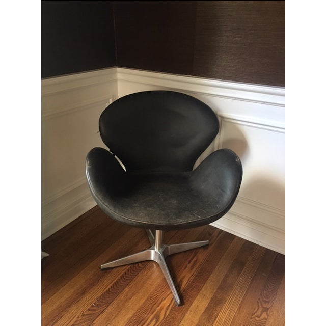 Mid Century Style Leather Chair - Image 3 of 5
