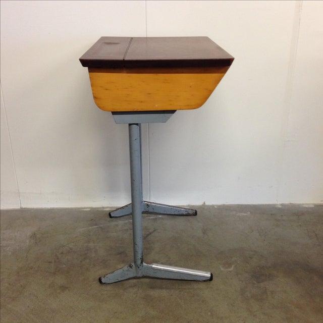 Belgian Vintage 1960s Children's School Desk For Sale - Image 3 of 7