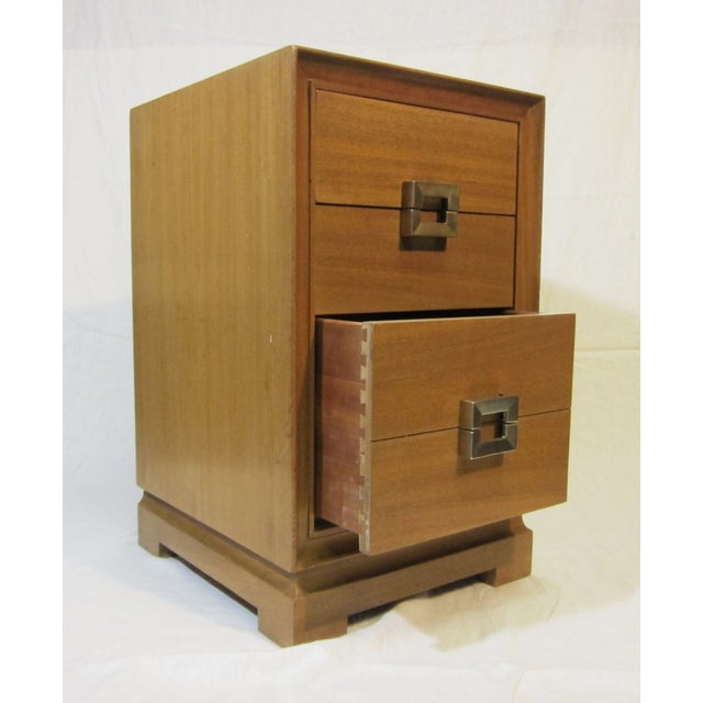 1940s Paul Frankl Style Red Lion Gentlemens Chest - Image 4 of 6