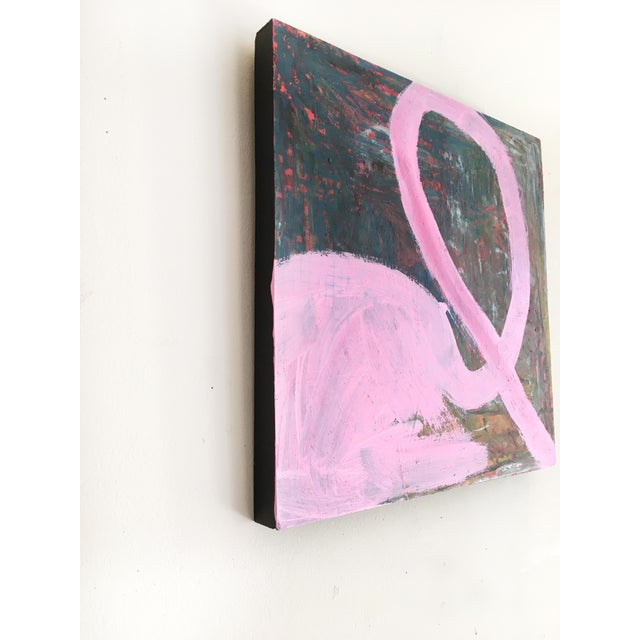 Original painting by Jessalin Beutler, completed in 2019. Acrylic and oil stick on cradled wood. Edges are painted black...
