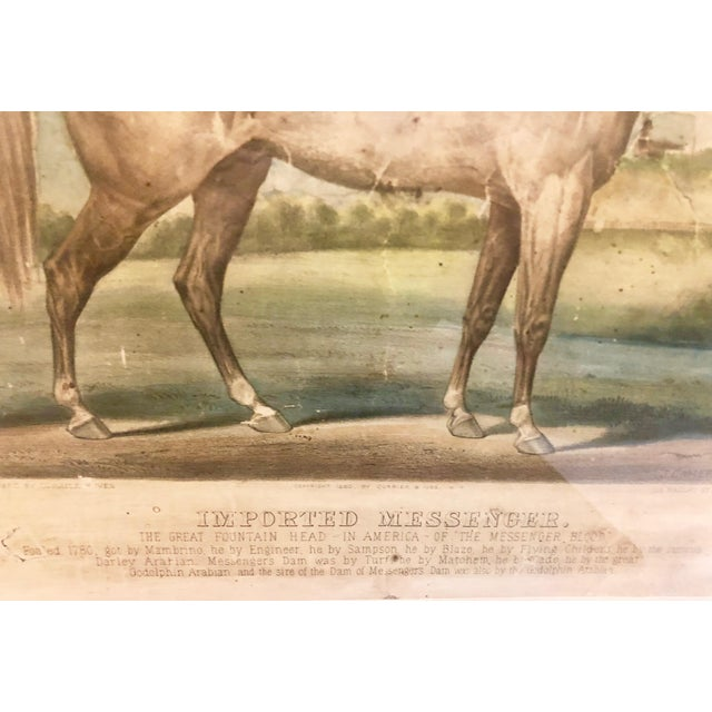 """19th Century Antique Currier & Ives """"Imported Messenger"""" Equestrian Lithograph Print For Sale In New York - Image 6 of 11"""