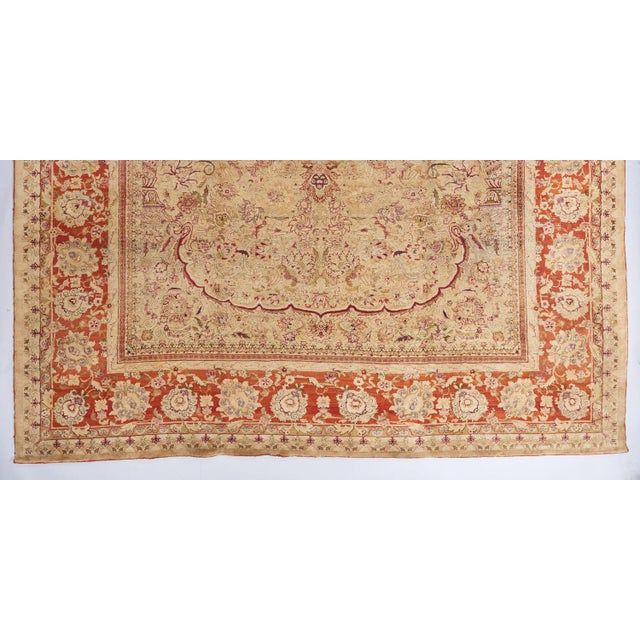 Beige Ground Indian Carpet For Sale - Image 4 of 8