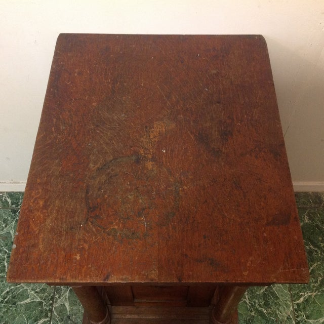 Antique Knights of Pythias Oak Table or Stand - Image 5 of 7