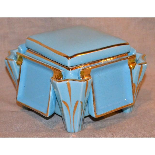 Canonsburg China Art Deco Cigarette Box For Sale - Image 12 of 12