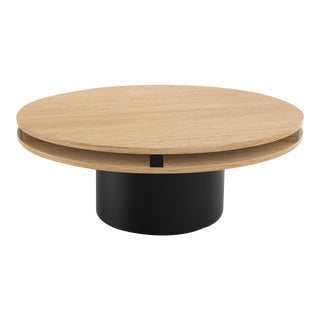 Contemporary 102 Coffee Table in Oak and Black by Orphan Work, 2019 For Sale