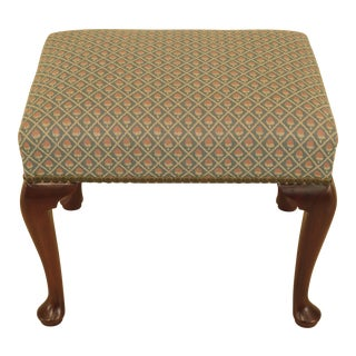 1970s Vintage Kittinger Colonial Williamsburg Mahogany Ottoman For Sale