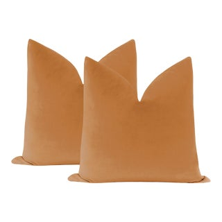 "22"" Tuscan Velvet Pillows - a Pair For Sale"