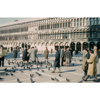 Limited Edition 1960s Venice Italy St. Mark's Square Photograph Print For Sale