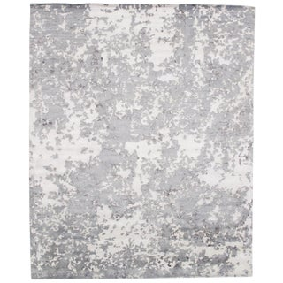"""Pasargad N Y Modern Bamboo Silk Hand Knotted Area Rug - 8'1"""" X 9'11"""" For Sale"""