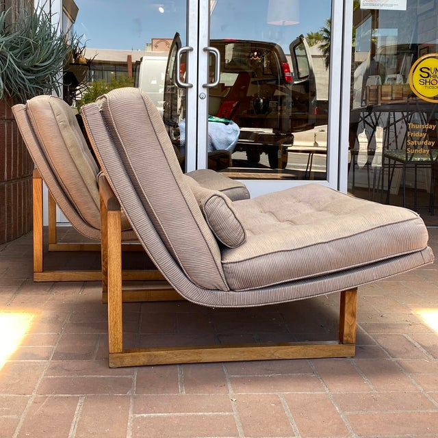Mid-Century Modern Mid-Century Milo Baughman Style Lounge Chairs - a Pair For Sale - Image 3 of 10