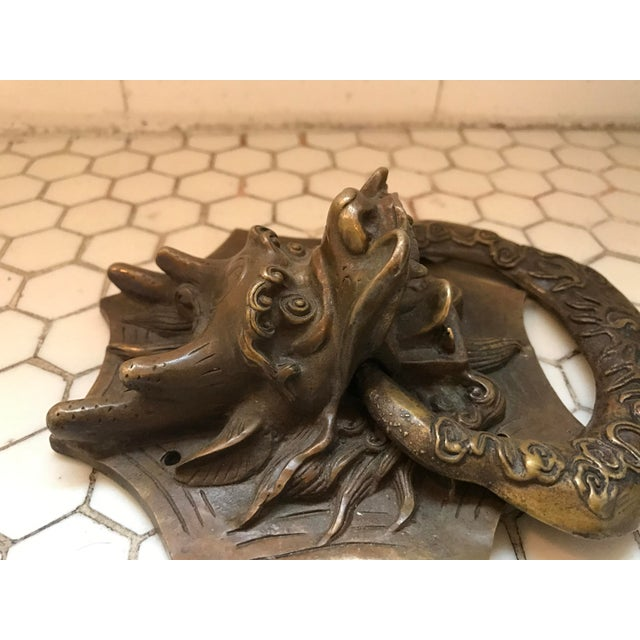 Asian Dragon Brass Door Knocker - Image 5 of 10
