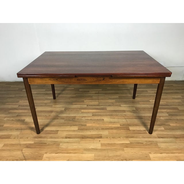 Mid-Century Danish Rosewood Dining Set For Sale In Los Angeles - Image 6 of 11