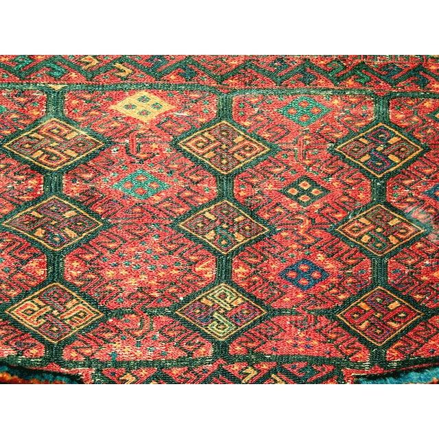 Old Persian Bakhtiari Soumak Khorjin Saddle Bag - Image 6 of 10