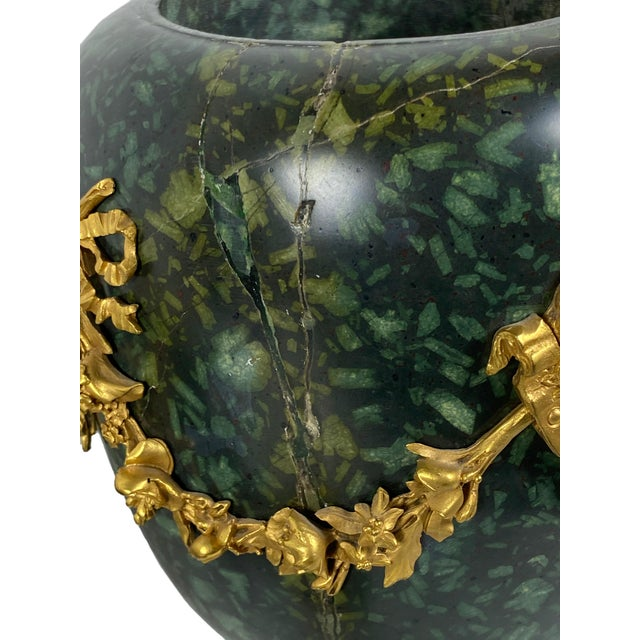 Early 18th Century Italian Porphyry Vases With Bronze Dore Mounts - a Pair For Sale - Image 9 of 13