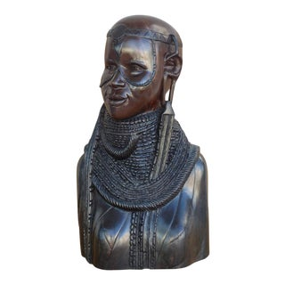 20th Century Large Finely Carved African Solid Ebony Sculpture For Sale