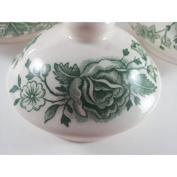 English Ironstone Floral Cream and Covered Sugar For Sale - Image 4 of 5