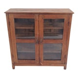 Image of Colonial Glass Display Cabinet For Sale