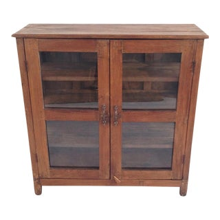 Colonial Glass Display Cabinet For Sale