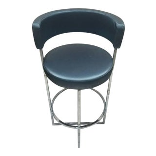 Porada Sirio Counter Stool Gray Vinyl Seat Barstool Chair For Sale