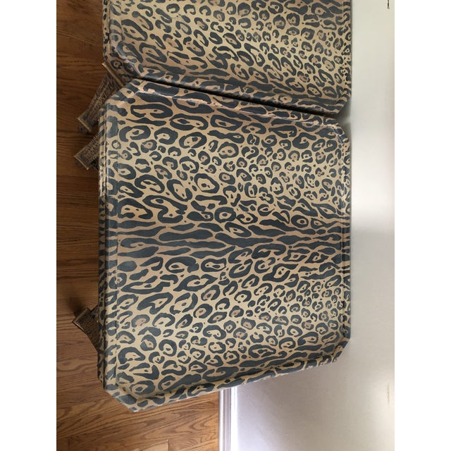 Wood Neoclassical Hand Painted Faux Leopard Side Tables - a Pair For Sale - Image 7 of 10